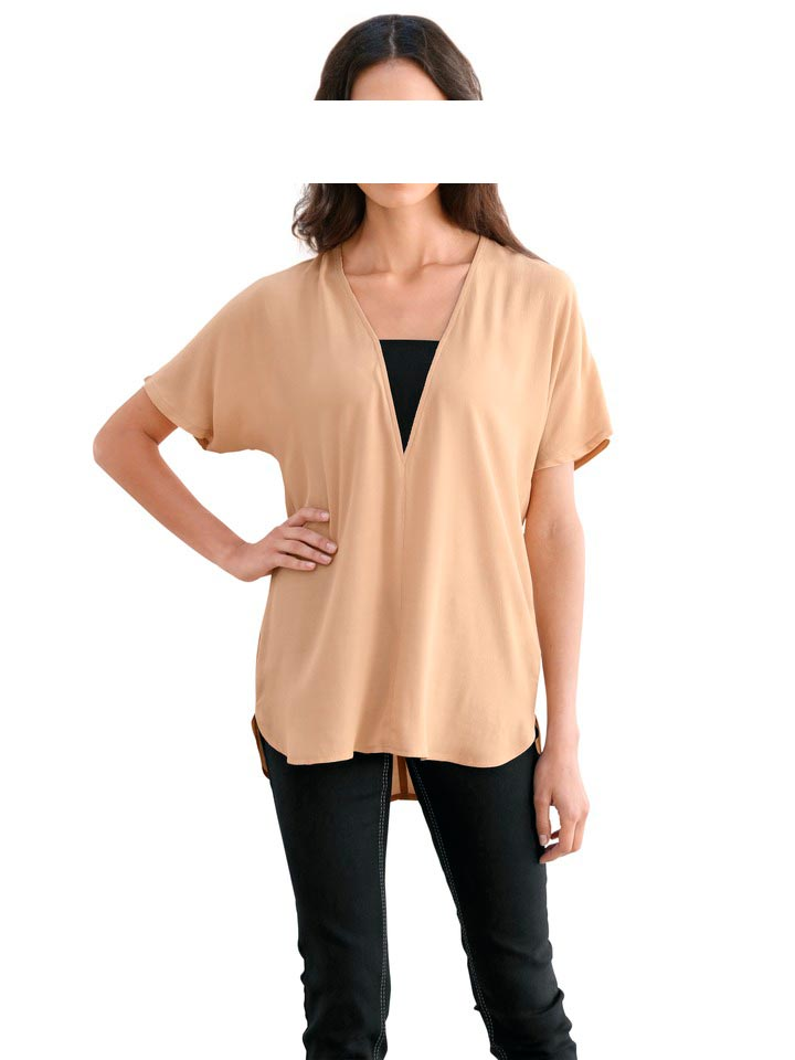 Travel Couture by Heine Bluse Orange Damenbluse