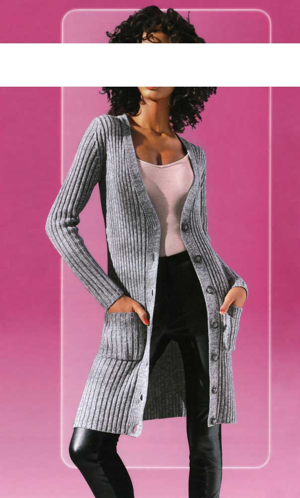 CLASS INTERNATIONAL Optimizer-Longstrickjacke Grau melange