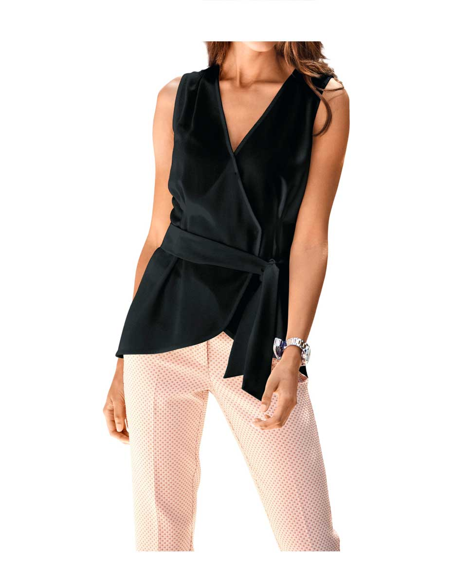Travel Couture by Heine Wickelbluse Schwarz Damenbluse